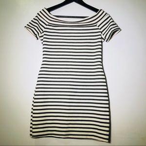 Zara Trafaluc Striped Bodycon Dress SIZE Medium